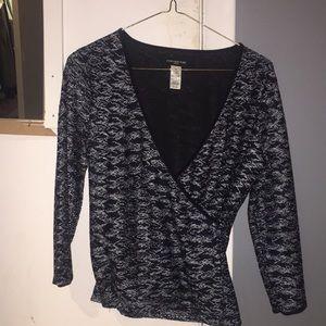 Jones New York deep v blouse